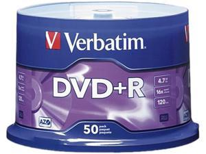 Verbatim AZO 4.7GB 16X DVD+R 50 Packs Disc Model 95037