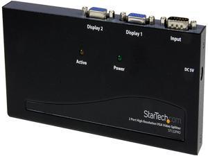 StarTech.com 2 Port High Resolution VGA Video Splitter - 350 MHz ST122PRO