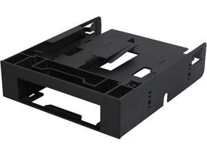 ICY DOCK Dual 2.5 SSD 1 x 3.5 HDD Device Bay to 5.25 Drive Bay Converter / Mount / Kit / Adapter - FLEX-FIT Trio MB343SP