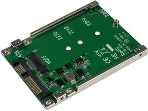 StarTech.com SAT32M225 M.2 SSD to 2.5in SATA Adapter Converter with Open Frame Housing and 7mm Height