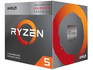 AMD RYZEN 5 3400G 4-Core 3.7 GHz (4.2 GHz Max Boost) Socket AM4 65W YD3400C5FHBOX Desktop Processor