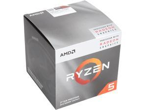 AMD RYZEN 5 3400G 4-Core 3.7 GHz (4.2 GHz Max Boost) Socket AM4 65W YD3400C5FHBOX Desktop Processor