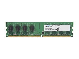 Crucial 2GB 240-Pin DDR2 SDRAM DDR2 1066 (PC2 8500) Desktop Memory Model CT25664AA1067
