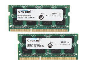 Crucial 8GB (2 x 4GB) DDR3 1066 (PC3 8500) Unbuffered Memory for Mac Model CT2K4G3S1067M