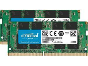 Crucial 64GB Kit (32GBx2) DDR4 3200 MT/s CL22 SODIMM 260-Pin Memory - CT2K32G4SFD832A