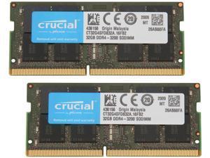 Crucial 64GB Kit (32GBx2) DDR4 3200 MT/s CL22 SODIMM 260-Pin Memory - ...