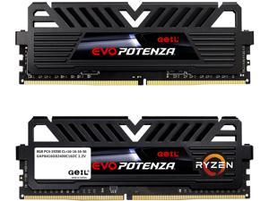 GeIL EVO POTENZA AMD 16GB (2 x 8GB) 288-Pin DDR4 SDRAM DDR4 2400 (PC4 19200) Desktop Memory Model GAPB416GB2400C16DC