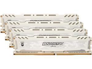 Ballistix Sport LT 16GB Kit (4GBx4) DDR4 2666 MT/s (PC4-21300) SR x8 DIMM 288-Pin - BLS4K4G4D26BFSC (White)