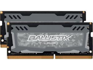 Ballistix Sport LT 16GB (2 x 8G) 260-Pin DDR4 SO-DIMM DDR4 2666 (PC4 21300) Memory (Notebook Memory) Model BLS2K8G4S26BFSDK
