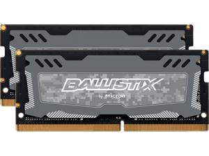 Ballistix Sport LT 32GB (2 x 16G) 260-Pin DDR4 SO-DIMM DDR4 2666 (PC4 21300) Memory (Notebook Memory) Model BLS2K16G4S26BFSD