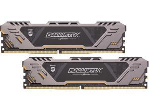 Ballistix Sport AT 16GB (2 x 8GB) 288-Pin DDR4 SDRAM DDR4 2666 (PC4 21300) Desktop Memory Model BLS2K8G4D26BFSTK