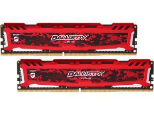 Ballistix BLS2K8G4D32AESEK 16GB (2 x 8GB) PC4-25600 3200MHz DDR4 288-Pin DIMM Desktop Memory (Red)