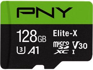 PNY 128GB Elite-X microSDXC UHS-I/U3 Class 10 Memory Card with Adapter, Speed Up to 100MB/s (P-SDU128U3100EX-GE)