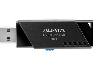 ADATA 64GB UV330 USB 3.1 Flash Drive (AUV330-64G-RBK)