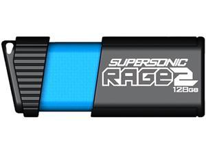 Patriot Memory 128GB Supersonic Rage 2 USB 3.1 Flash Drive, Up to 400MB/s Transfer Speed, Durable Rubber Housing (PEF128GSR2USB)