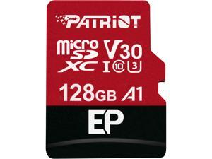 Patriot Memory 128GB EP Series MicroSDXC U3, A1, V30, 4K Memory Card with Adapter, Reads 100 MB/s, Writes 80 MB/s, MLC Nand