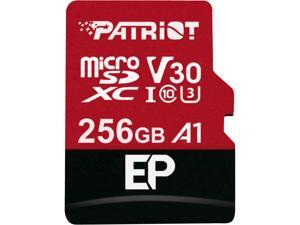 Patriot Memory 256GB EP Series MicroSDXC U3, A1, V30. 4K Memory Card with Adapter, Reads 100MB/s, Writes 80MB/s