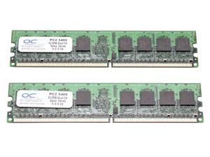 OCZ Value Series 1GB (2 x 512MB) 240-Pin DDR2 SDRAM DDR2 667 (PC2 5400) Dual Channel Kit Desktop Memory Model OCZ26671024VDC-K