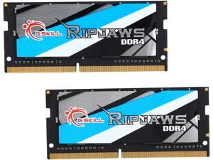 G.SKILL Ripjaws Series 16GB (2 x 8GB) 260-Pin DDR4 SO-DIMM DDR4 2666 (PC4 21300) Laptop Memory Model F4-2666C18D-16GRS