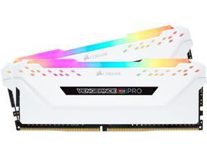CORSAIR Vengeance RGB Pro 16GB (2 x 8GB) 288-Pin DDR4 DRAM DDR4 3200 (PC4 25600) Desktop Memory Model CMW16GX4M2C3200C16W