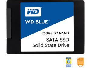 "WD Blue 3D NAND 250GB PC SSD - SATA III 6 Gb/s 2.5""/7mm Solid State Drive - WDS250G2B0A"