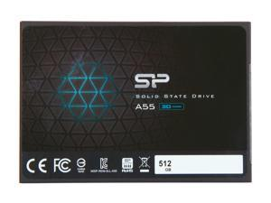 "Silicon Power Ace A55 2.5"" 512GB SATA III 3D NAND Internal Solid State Drive (SSD) SU512GBSS3A55S25NE"