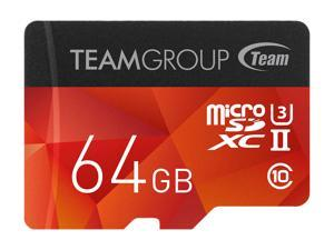 Team 64GB Xtreem microSDXC UHS-II/U3 Memory Card with Adapter, Speed Up to 250MB/s , Lifetime Warranty (TCUSDX64GUHSII44)