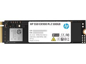 HP EX900 M.2 500GB PCIe 3.0 x4 NVMe 3D TLC NAND Internal Solid State Drive (SSD) 2YY44AA#ABC