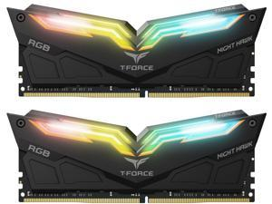 Team T-Force Night Hawk RGB 32GB (2 x 16GB) 288-Pin DDR4 SDRAM DDR4 3200 (PC4 25600) Desktop Memory Model TF1D432G3200HC16CDC01