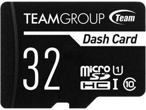 Team 32GB Dash Card  microSDHC UHS-I/U1 Class 10 Memory Card with Adapter, Speed Up to 80MB/s (TDUSDH32GUHS03)