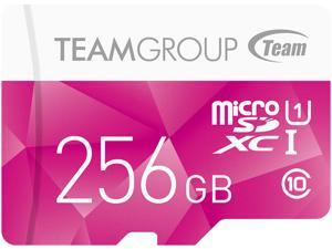 Team Group 256GB Color microSDXC UHS-I/U1 Class 10 Memory Card with Adapter, Speed Up to 80MB/s (TCUSDX256GUHS46)