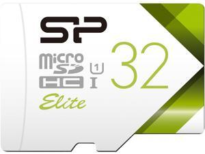 Silicon Power 32GB Elite microSDHC UHS-I/U1 Class 10 Memory Card with Adapter, Speed Up to 85 MB/s (SU032GBSTHBU1V21AH)