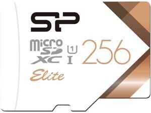 Silicon Power 256GB Elite microSDXC UHS-I/U1 Class 10 Memory Card with Adapter, Speed Up to 85 MB/s (SU256GBSTXBU1V21AE)
