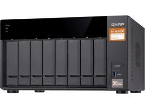 QNAP TS-832X-2G-US High-Performance 8-Bay 64-bit NAS Built-in 2 x 10 GbE (SFP+) Network, Hardware Encryption, Quad Core 1.7 GHz, 2GB RAM, 2 x 1 GbE