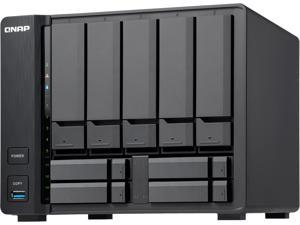 QNAP TS-932X-2G-US 5 (+4) Bay 64-bit NAS with Hardware Encryption, Quad Core 1.7 GHz, 2GB RAM, 2 x 10 GbE (SFP+), 2 x 1 GbE