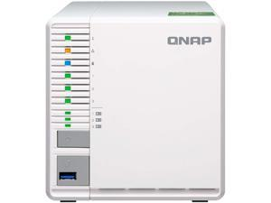 "QNAP TS-332X 3-Bay 64-bit NAS with Built-in 10G Network. Quad Core 1.7 GHz, 2GB RAM, 1 x 10 GbE (SFP+), 2 x 1 GbE, 3 x 3.5 / 2.5"" Drive Slots, 3 x M.2 SATA 2280 Slots, RAID 0/1/5"
