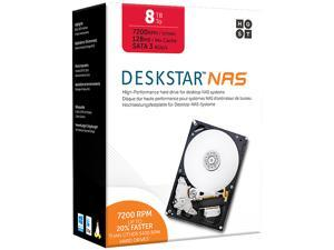 "HGST Deskstar NAS 3.5"" 8TB 7200 RPM 128MB Cache SATA 6.0Gb/s High-Performance Hard Drive for Desktop NAS Systems Retail Packaging 0S04012"