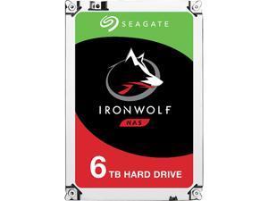 "Seagate IronWolf ST6000VN0033 6TB 7200 RPM 256MB Cache SATA 6.0Gb/s 3.5"" Internal Hard Drive Bare Drive"