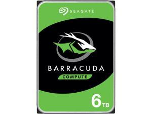 "Seagate BarraCuda ST6000DM003 6TB 5400 RPM 256MB Cache SATA 6.0Gb/s 3.5"" Internal Hard Drive Bare Drive"