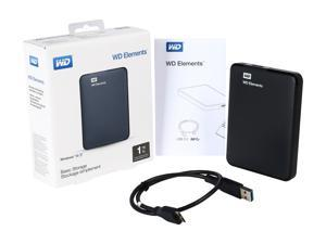 WD 1TB Elements Portable Hard Drive USB 3.0 Model WDBUZG0010BBK-EESN Black