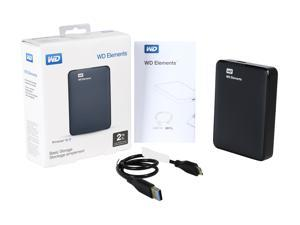 WD 2TB Elements Portable Hard Drive USB 3.0 Model WDBU6Y0020BBK-EESN Black