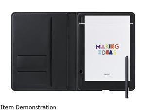 "Wacom CDS610G Bamboo Folio, Small: Approximately A5 / Half Letter 5.51"" x 8.50"" ( (140 × 216 mm)) Active Area USB, Bluetooth Smart Wireless Bamboo Folio, Small Smart Pad"