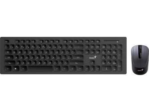 Genius 31340001400 SlimStar 8008 Wireless Multimedia Chocolate Keycap Keyboard and Optical Mouse Combo - Black