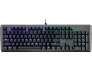 Cooler Master CK550 Gaming Mechanical Keyboard with RGB Backlighting, Brushed Aluminum Design, Floating Keycaps, On-the-Fly Controls, and Hybrid Key Rollover, Brown Mechanical Switch