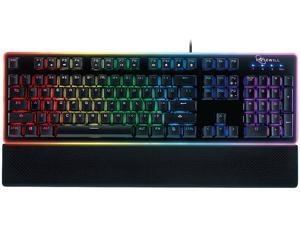 Rosewill NEON K51 - Hybrid Mechanical RGB Gaming Keyboard / Multicolor Backlit Keyboard (Black)