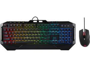 Rosewill Fusion C40 Gaming Keyboard and Mouse Combo, Dedicated Multimedia Keys, Mem-chanical Keyboard with Brilliant RGB LED Backlight with Precise Gaming Mouse, On-the-fly DPI Setting