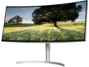 "LG 38BK95C-W Black/Silver 38"" Class Curved 21:9 UltraWide IPS WQHD+ HDR AMD FreeSync Monitor, sRGB 99%, 300 cd/m2, HDMI, DisplayPort, USB Type-C, Tilt, Height Adjustable, VESA Compatible"