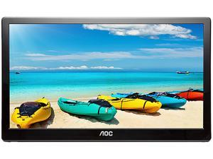 "AOC I1659FWUX 15.6"" USB 3.0 USB-powered portable monitor, Full HD 1920x1080 IPS, Built-in Stand, Auto-Pivot, VESA Compatible"