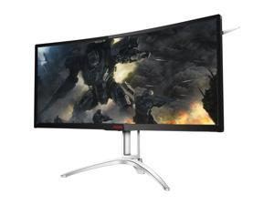 "AOC AGON AG352UCG6 35"" Ultimate Curved Gaming Monitor, 1800R curvature, Ultra WQHD 3440x1440 VA panel, NVIDIA G-SYNC, 120Hz, 4ms, Height Adjustable, DisplayPort/HDMI, USB 3.0 hub"