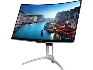 "AOC AGON AG322QCX 31.5"" Curved Gaming Monitor, 1800R curvature, QHD 2560x1440 VA panel, AMD FreeSync, 144Hz, 4ms, Height Adjustable, DisplayPort/HDMI, USB 3.0 hub, VESA compatible"